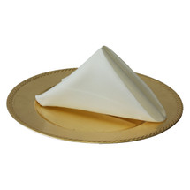 20 inch L'amour Satin Napkins Ivory