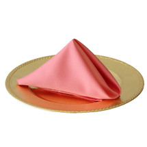 20 inch L'amour Satin Napkins Coral