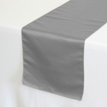 Lamour Satin Table Runners Dark Silver