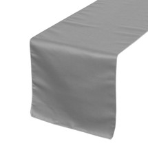 Dark Silver Table Runners, Lamour Table Runners for Weddings and Events
