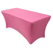 Stretch Spandex 6 Ft Rectangular Table Covers Fuchsia