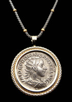 CPR150 - ANCIENT ROMAN IMPERIAL GORDIAN III SILVER ANTONINIANUS COIN PENDANT