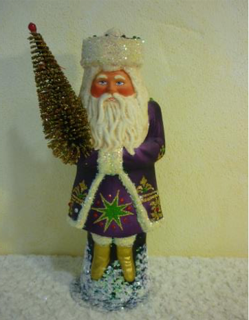Schaller Santa in purple coat