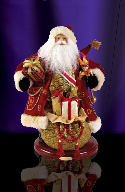 Christopher Regal Heirloom Fabric Santa
