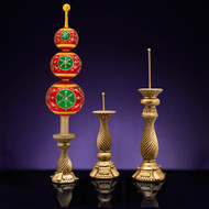 Christopher Radko 3 Assorted Size Finial Stand - Gold