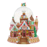 Christopher Radko Home for the Holidays Gingerbread Factory Snowglobe