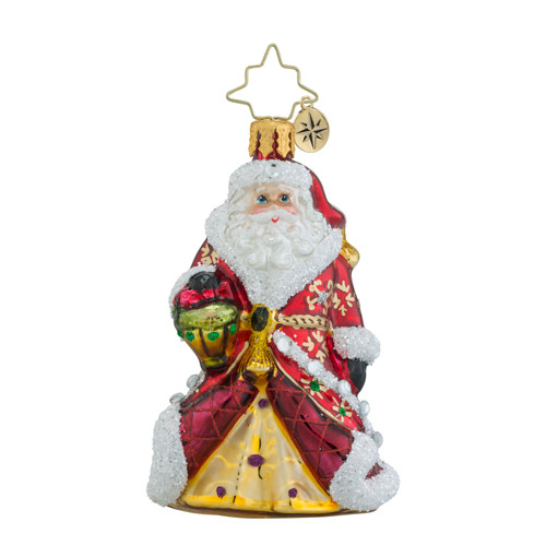 Christopher Radko Shimmering Santa Little Gem