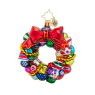 Christopher Radko Joyful Wreath Little Gem