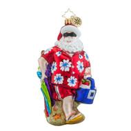 Christopher Radko Surfside Santa