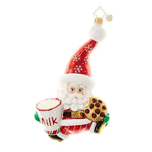 Christopher Radko Snack Time Santa