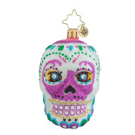 Christopher Radko La Calavera White Little Gem
