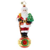 Christopher Radko Balancing Ball Santa