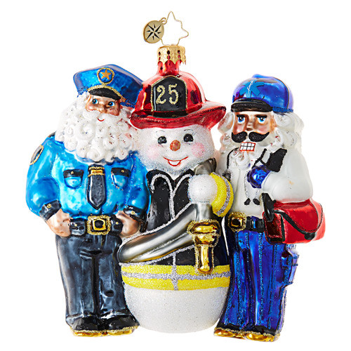 Christopher Radko Santa's First Responders