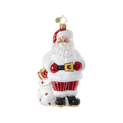 Christopher Radko Dotted Swiss Santa
