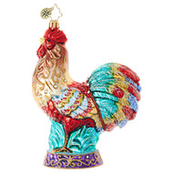 Christopher Radko Christmas Rooster