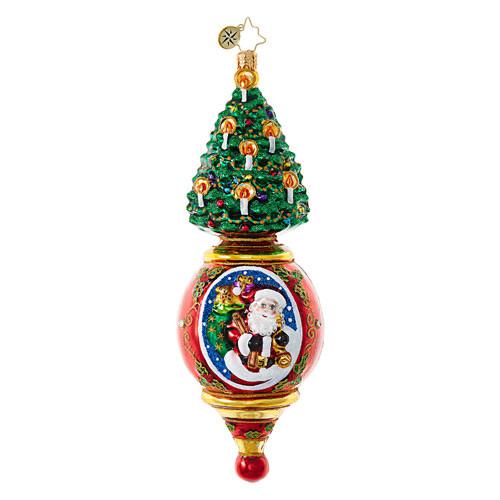 Christopher Radko Pink Pendulum Santa