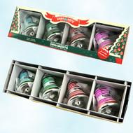 Shiny Brite Multi Colored Striped Ornaments