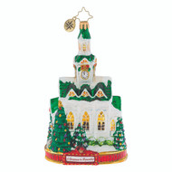 Christopher Radko Blessed Gathering - Ornament of the Month- 2018-  A Christmas to Remember collection - front