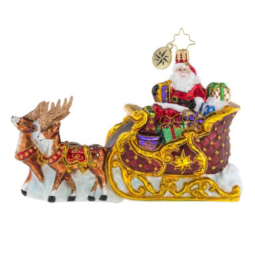 Christopher Radko Stellar Ride, Santa! - front