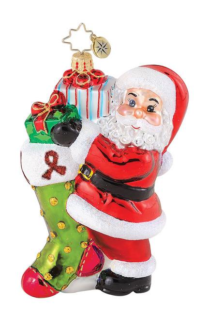 Christopher Radko's High Hopes AIDS Awareness charity ornament