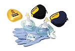 Laerdal Pocket Mask w/ Oxygen Inlet & Head Strap in Black Soft Pack