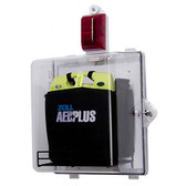 Clear Alarmed Cabinet for Zoll AED Plus