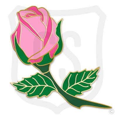 Pink Rose Bud (Flower)