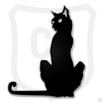 Purrfect Pin (Black Cat) - Yellow Eyes