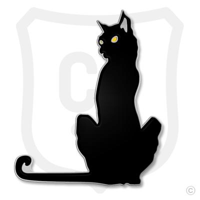 Purrfect Pin (Black Cat) - Yellow Eyes
