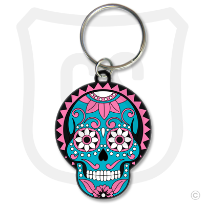 Sugar Skull (Day of the Dead) Blue & Pink