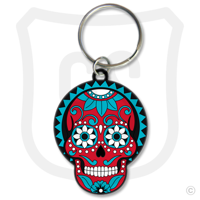 Sugar Skull (Day of the Dead) Red & Blue