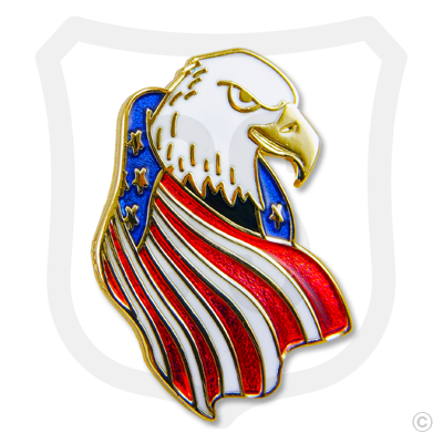 USA Flag Draped Eagle