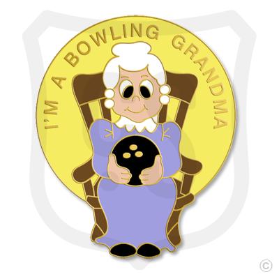 I'm a Bowling Grandma Rocking Chair