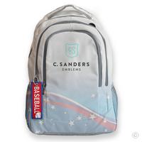 Baseball Bag Tag on Backpack
