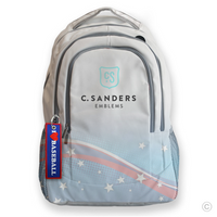 I Love Baseball Bag Tag on Backpack