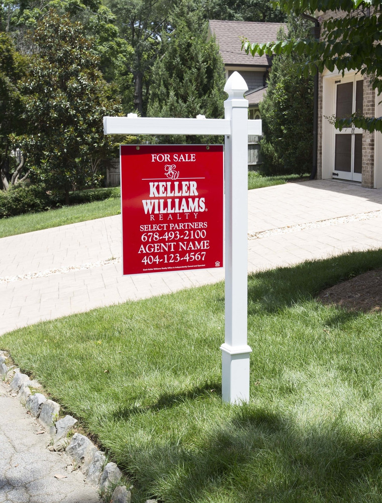 Vinyl Real Estate Post, PVC Yard Signs, Sign Post with Stake