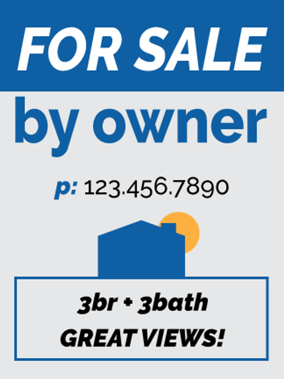 For Sale By Owner Hanging Sign Panel - 24T x 18W