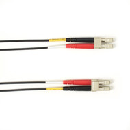 Black Box 1-m, LC-LC, 50-Micron, Multimode, Plenum, Black Fiber Optic Cable FOCMP50-001M-LCLC-BK