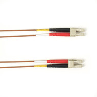 Black Box 1-m, LC-LC, 50-Micron, Multimode, Plenum, Brown Fiber Optic Cable FOCMP50-001M-LCLC-BR