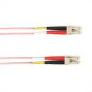 Black Box 1-m, LC-LC, 50-Micron, Multimode, Plenum, Pink Fiber Optic Cable FOCMP50-001M-LCLC-PK