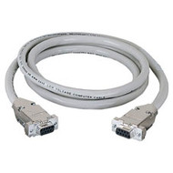 Black Box DB9 Extension Cable with EMI/RFI Hoods, Beige, Female/Female, 100-ft. EDN12H-0100-FF
