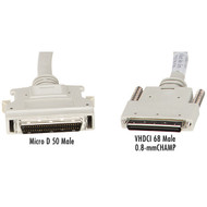 Black Box VHDCI 68 Male to Micro D 50 (Mini 50) Male Cables, 6-ft. (1.8-m) EVMS24-0006