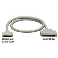 Black Box VHDCI 68 Male to Micro D 68 Male Cable , 6-ft. (1.8-m) EVMS8-0006-MM