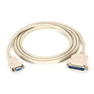 Black Box AT Serial Printer Null-Modem (CL2) Cable, DB25 Male/DB9 Female, 50-ft. EVMTBPC-0050