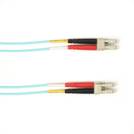 Black Box 1-m, LC-LC, 50-Micron, Multimode, PVC, Aqua Fiber Optic Cable FOCMR50-001M-LCLC-AQ