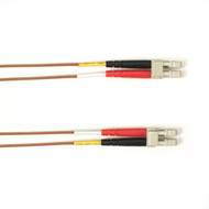 Black Box 1-m, LC-LC, 50-Micron, Multimode, PVC, Brown Fiber Optic Cable FOCMR50-001M-LCLC-BR