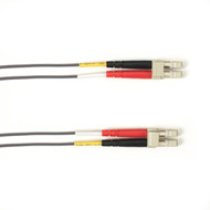 Black Box 1-m, LC-LC, 50-Micron, Multimode, PVC, Gray Fiber Optic Cable FOCMR50-001M-LCLC-GR