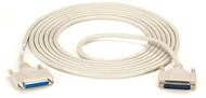 Black Box DB25 Extension Cable, DB25 Male, DB25 Female, 15-ft. (4.5-m) BC00708