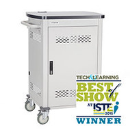 Black Box 20-Device iPad and Tablet Cart - Single Frame and Hinged Door UCCSS20H