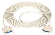 Black Box DB25 Extension Cable, DB25 Male, DB25 Female, 25-ft. (7.6-m) BC00714